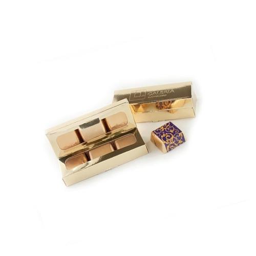 6 db csokoládé aranytömb dobozban