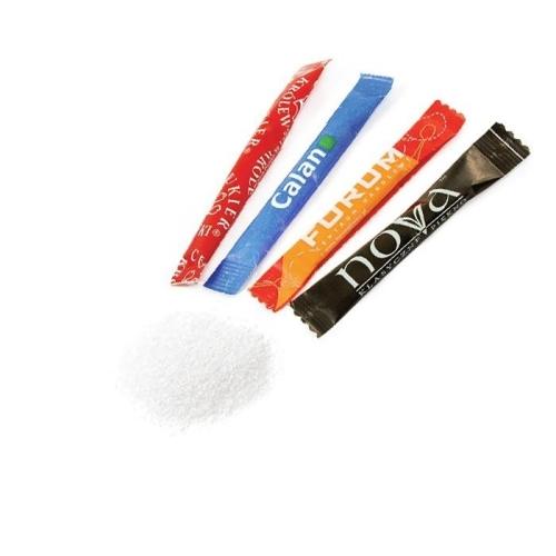 Reklám cukor hosszúkás zacskóban