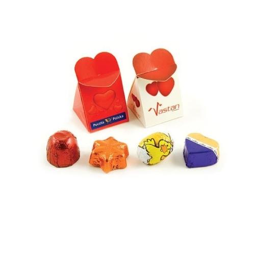 Reklámcsokik szív alakú zárható díszdobozban