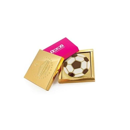 16 db-os csokoládé focilabda papírdobozban