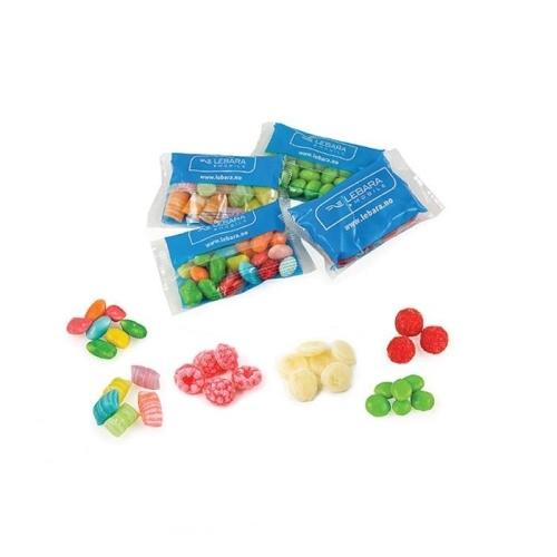 Gyümölcsös cukorkák zacskókban