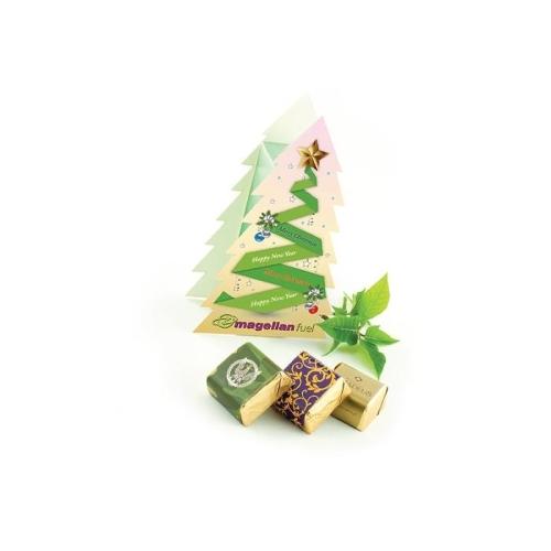Reklám csokoládé karácsonyfa dobozban