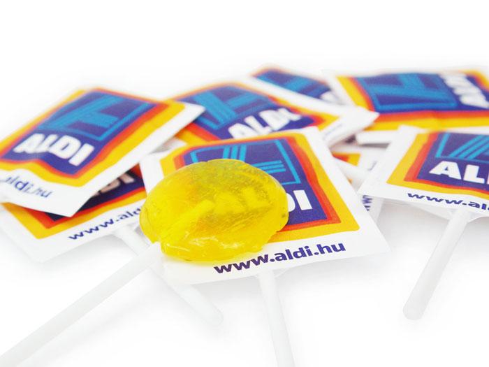 egyedi papírcsomagolású nyalóka